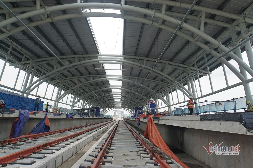 Hơn 17 km  đường ray trên cao metro Bến Thành- Suối Tiên sẵn sàng chờ thử tàu