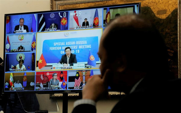 ASEAN, Russia foreign ministers work on virus response