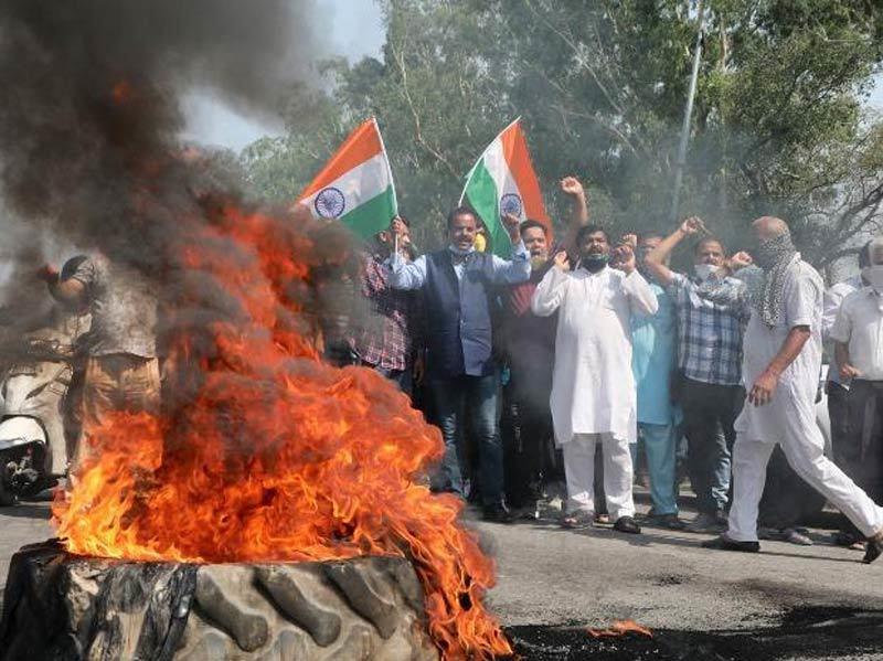 Biểu tình phản đối Trung Quốc bùng nổ khắp Ấn Độ
