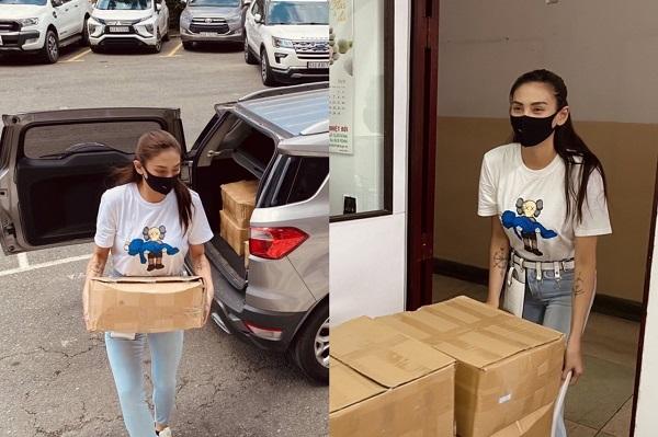Võ Hoàng Yến quyên góp 1000 chai rửa tay cho Bệnh viện Nhiệt Đới