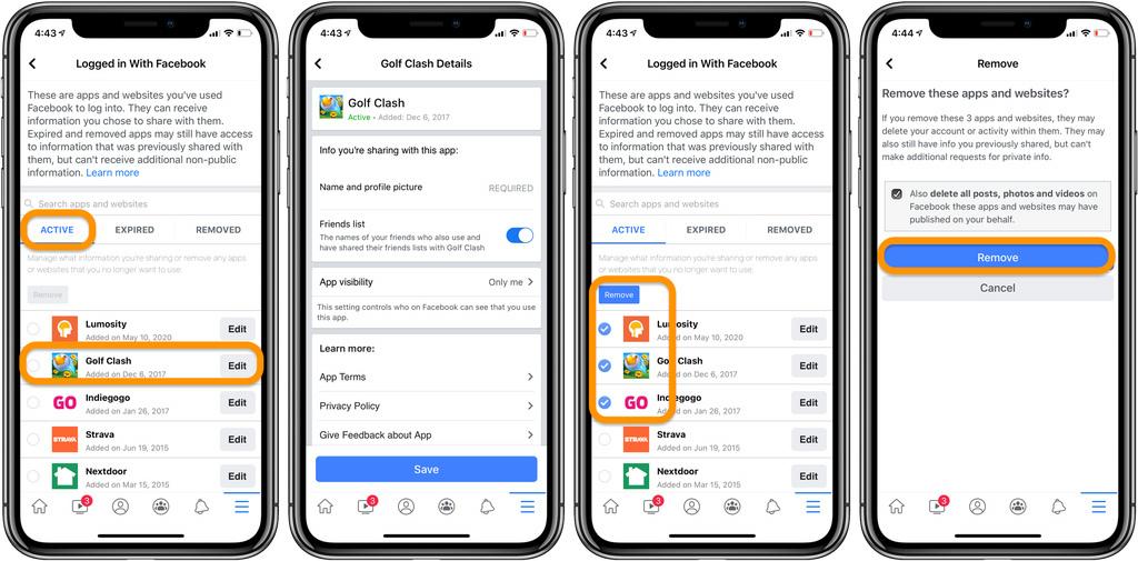 Cách xóa ứng dụng và trang web bạn đã đăng bằng Facebook