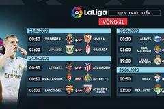Lịch thi đấu vòng 31 La Liga