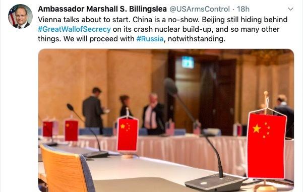 Trung Quốc nổi cáu vì trò chơi khăm của phái viên Mỹ