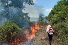 Hàng nghìn người đội nắng chữa cháy rừng ở Nghệ An
