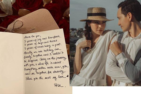 Bức thư ngọt ngào Kim Lý gửi Hà Hồ