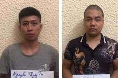 Bắt nhóm vặt trộm phụ tùng ô tô ở Hà Nội