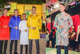 Cầu thủ Việt kiều cao 1m93 tự tin diễn áo dài