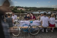 Coronavirus: Czechs hold 'farewell party' for pandemic