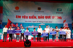 "The Coast Guard organizes ""I love my country's sea and islands"" contest in Gia Vien"