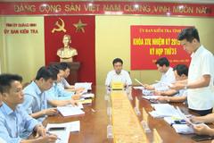 Ủy ban Kiểm tra Quảng Ninh kỷ luật cán bộ