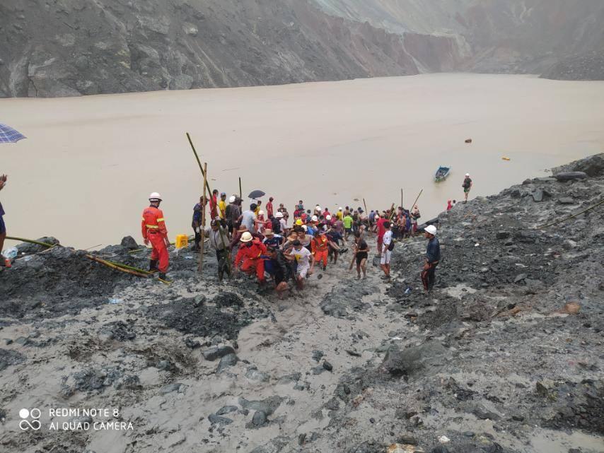 Sạt lở mỏ đá quý tại Myanmar, hơn 100 công nhân tử nạn