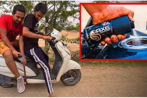 Xe tay ga chạy bằng nước xịt khử mùi cơ thể