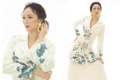 Hoa hậu Paris Vũ khoe sắc với váy hoạ tiết