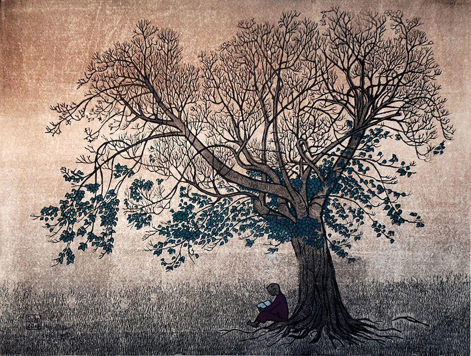 Ngắm nhìn thế giới nghệ thuật đồ họa qua tranh Trần Văn Quân