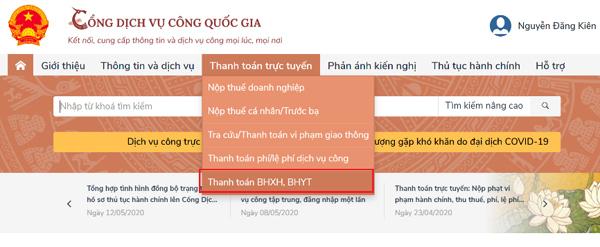 Đã có thể đóng BHXH, gia hạn BHYT trực tuyến