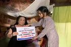 Trao hơn 43 triệu đồng cho bà Phương bị đột quỵ ở Hà Tĩnh