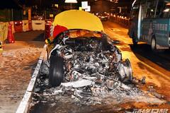 Siêu xe Ferrari 456 Italia bất ngờ bốc cháy trên đường cao tốc