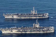 """Tập trận cùng lúc ở Biển Đông, Trung Quốc tuyên bố """"sẵn sàng đáp trả Mỹ"""""""