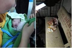 Bé sơ sinh còn nguyên dây rốn bỏ rơi trên ghế đáở Sài Gòn