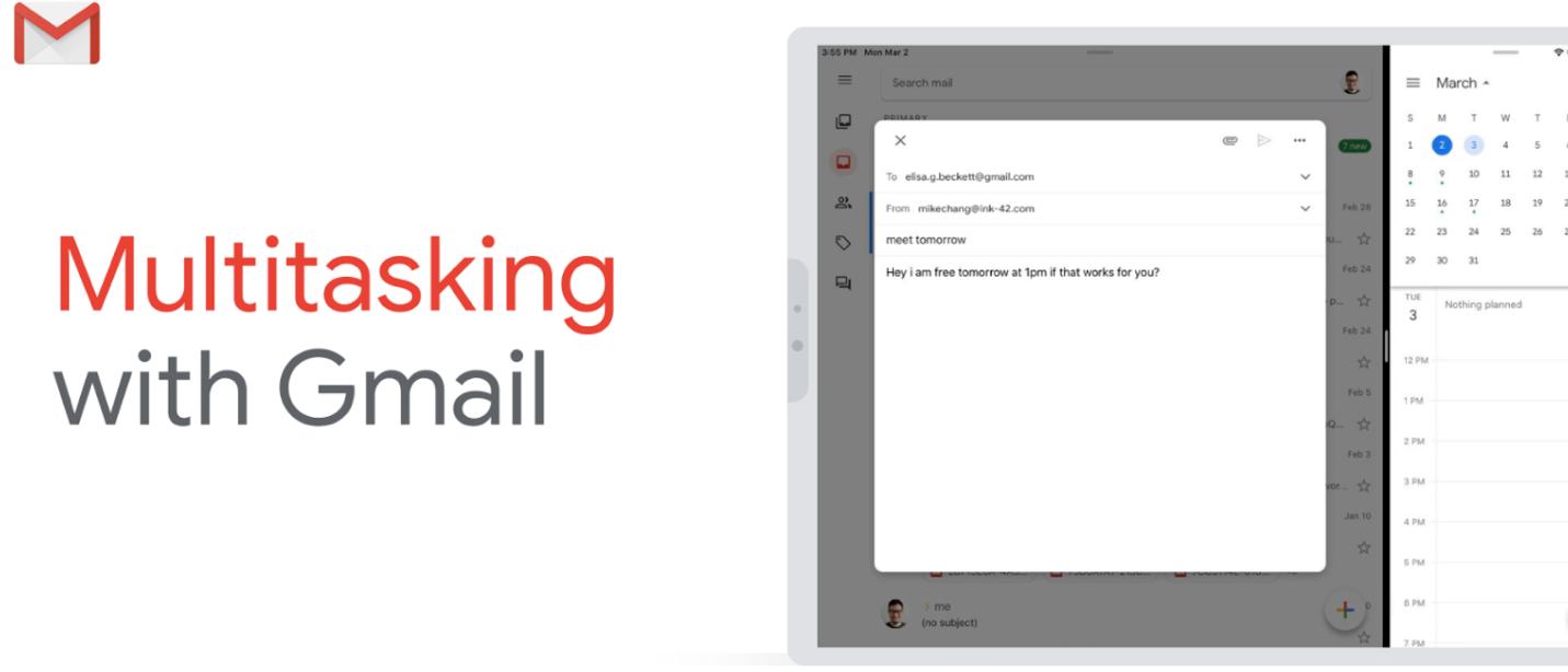 Cách sử dụng Gmail ở chế độ Split View trên iPad