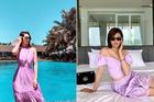 Sao 8/7: Quỳnh Nga, Thuỳ Anh xinh đẹp với hot trend váy tím