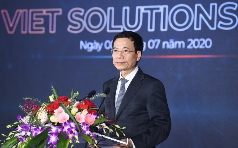 Toàn văn phát biểu của Bộ trưởng Nguyễn Mạnh Hùng tại lễ phát động Viet Solutions 2020
