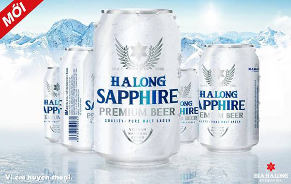 Ra mắt bia Hạ Long Sapphire