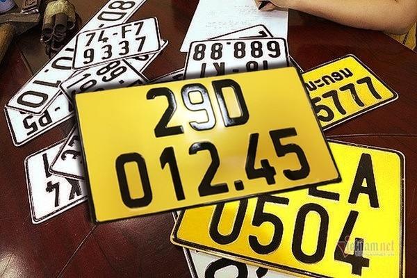 Đổi biển số màu vàng: Được giữ số biển kiểm soát cũ