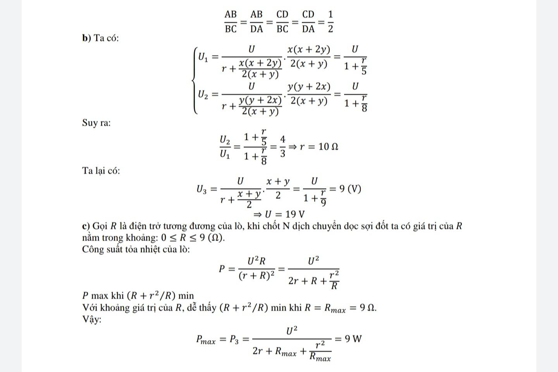 Tham khảo lời giải đề Vật lý vào Chuyên Khoa học Tự nhiên