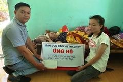 Gia đình có ba người nằm chờ chết tiếp tục được bạn đọc VietNamNet ủng hộ
