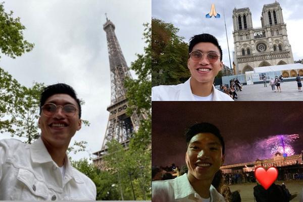 """Văn Hậu """"lên đồ"""" du lịch Paris trước ngày về nước"""