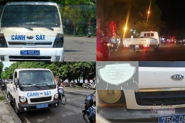 loat xe cong an phuong khong co kiem dinh o hue la do can bo quen