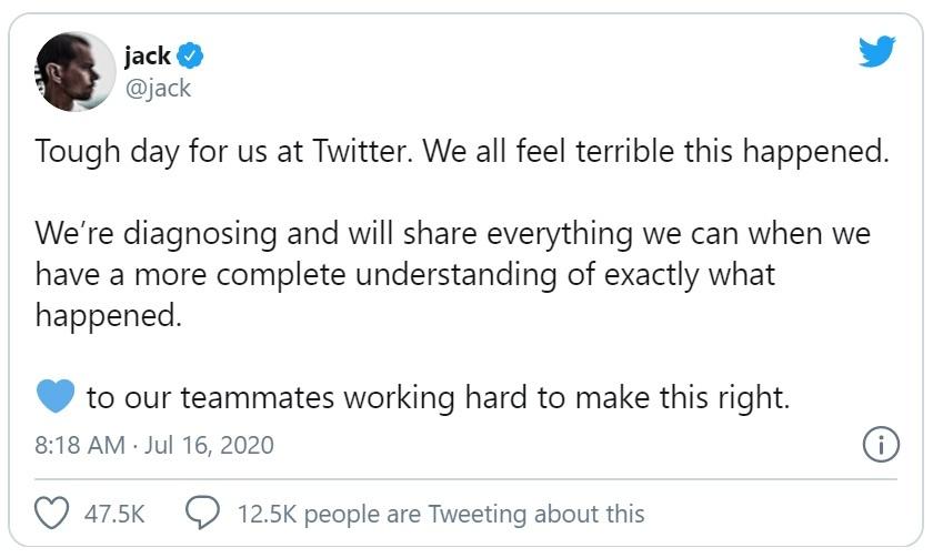 CEO Twitter lên tiếng sau vụ hacker tấn công vào hàng loạt tài khoản VIP