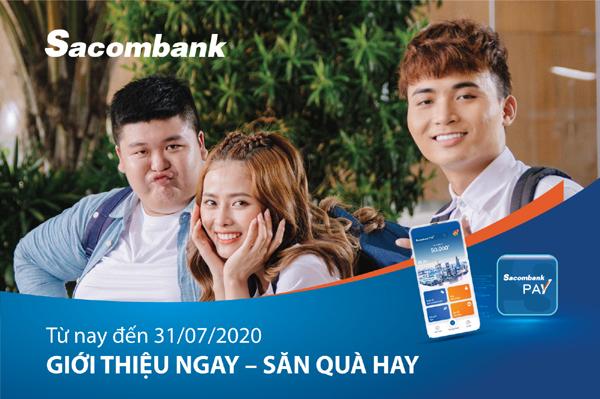 Cơ hội hoàn tiền khi dùng Sacombank Pay