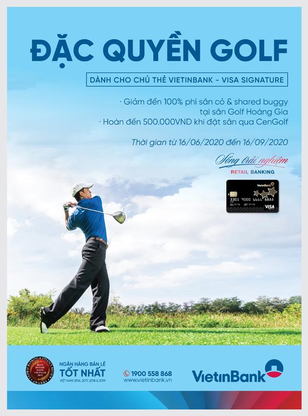 Ưu đãi chơi golf cho chủ thẻ VietinBank Visa Signature