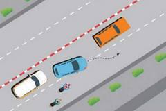 Thi thử câu hỏi điểm liệt sát hạch GPLX: Vượt xe thế nào cho đúng?