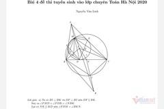Lời giải đề Toán chuyên vào lớp 10 của Hà Nội