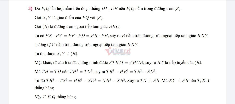 Lời giải đề Toán vào lớp 10 chuyên Tin của Hà Nội