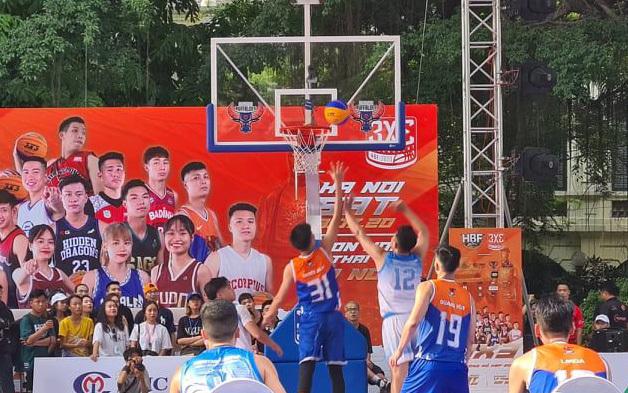 Hấp dẫn giải bóng rổ 3x3 tại Hà Nội