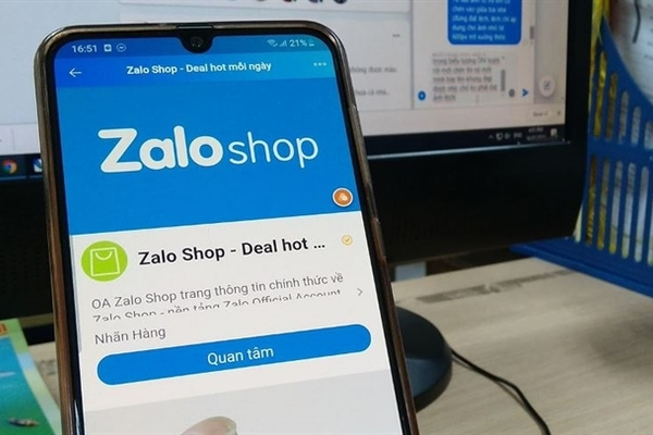 Zalo Shop not been licensed: Ministry