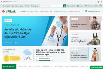 VPBank ra mắt website phong cách thương mại điện tích hợp trí tuệ nhân tạo