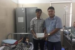Trao hơn 37 triệu đồng đến bé Trần Đức Tài bị ung thư Thận