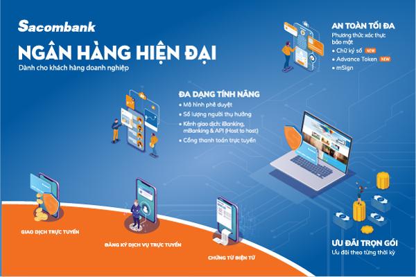 Sacombank triển khai loạt giải pháp thanh toán không tiền mặt cho DN