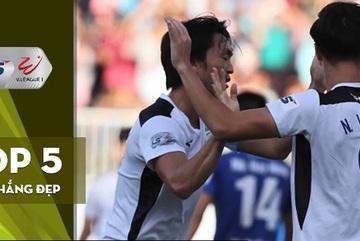 Tuấn Anh dẫn đầu top bàn thắng đẹp vòng 10 V-League