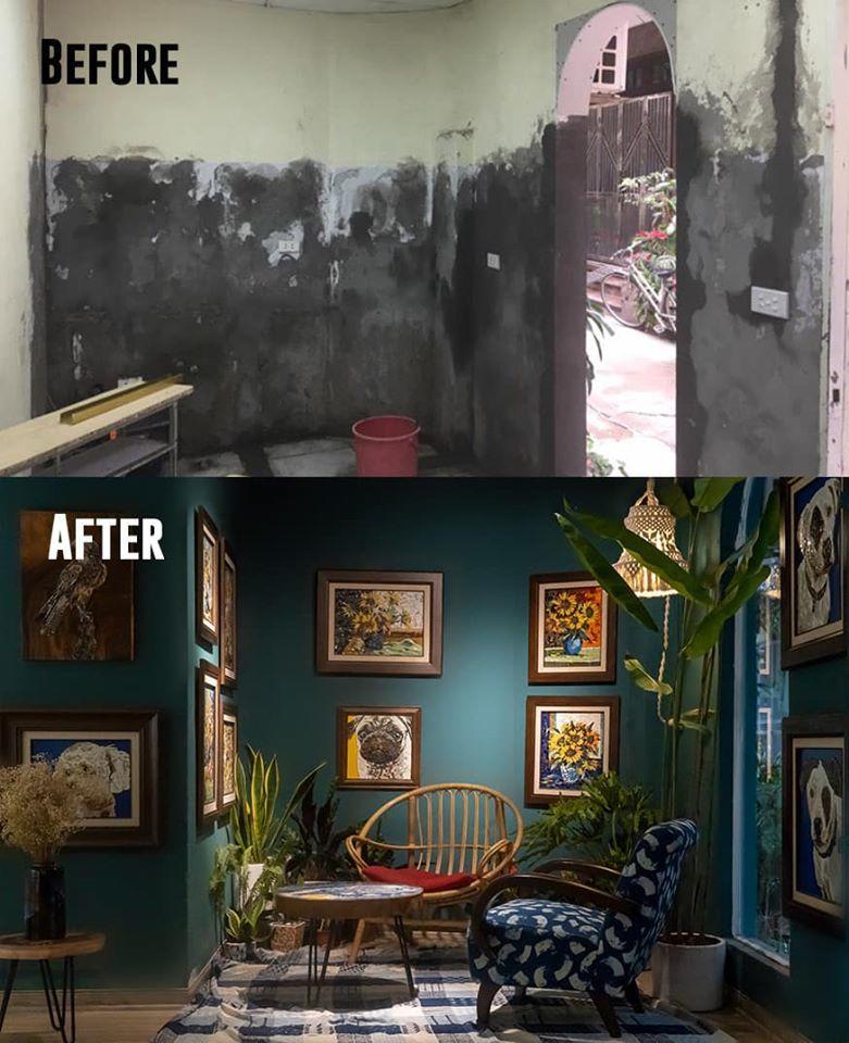 Chỉ 16 triệu, chàng giảng viên cải tạo phòng cũ thành không gian nghệ thuật