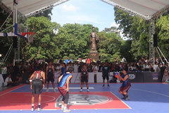 Three on three basketball hits central Hanoi