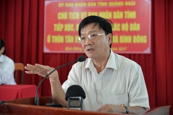 Miễn nhiệm Chủ tịch UBND Quảng Ngãi đối với ông Trần Ngọc Căng