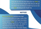 Hanoi airport to stop public announcements to reduce noise