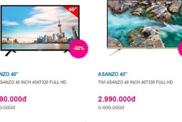 TV Led 40 inch bất ngờ giảm giá xuống dưới 3 triệu đồng