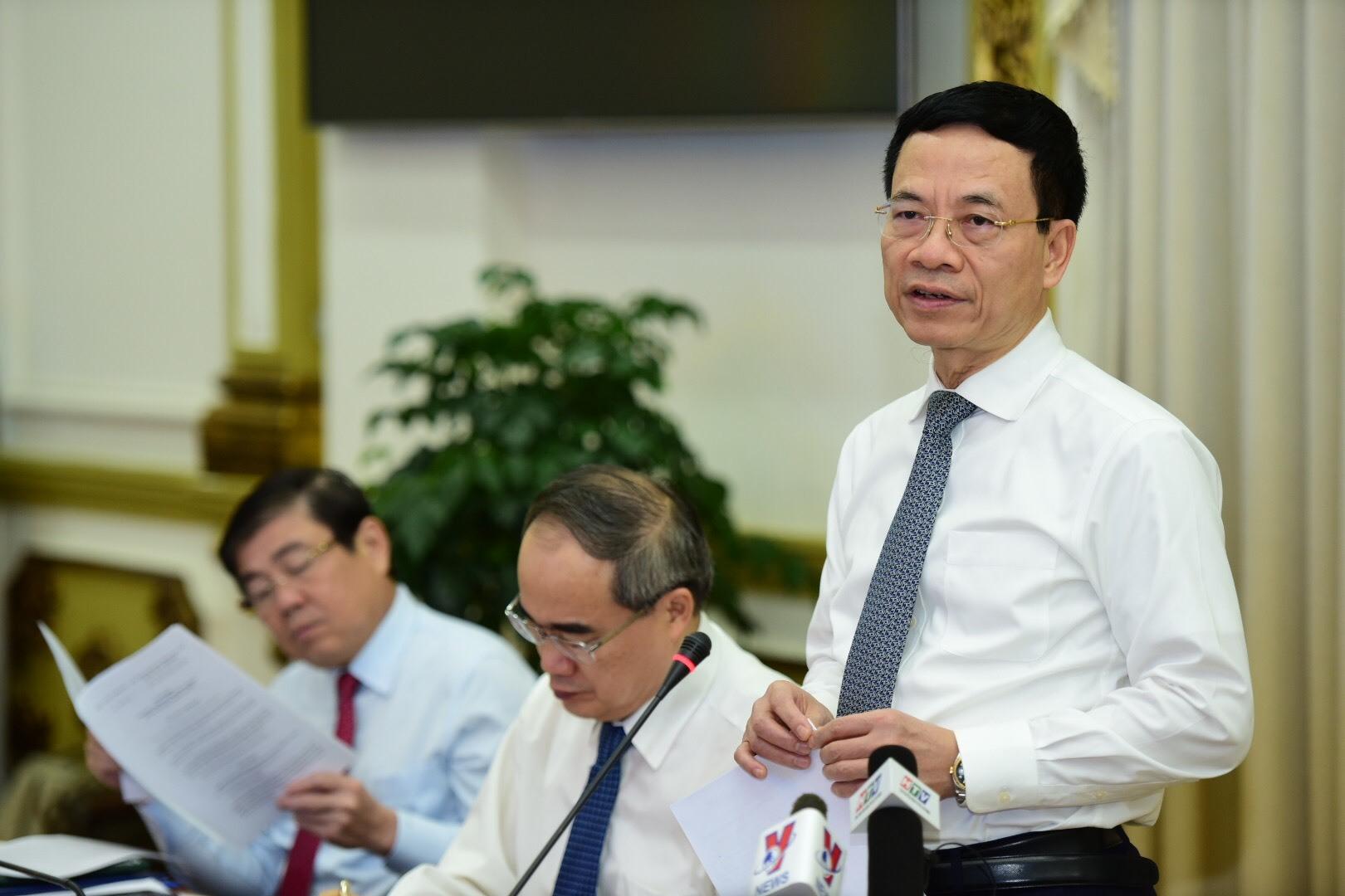 Toàn văn phát biểu của Bộ trưởng Nguyễn Mạnh Hùng tại lễ công bố Chương trình Chuyển đổi số của TP.HCM